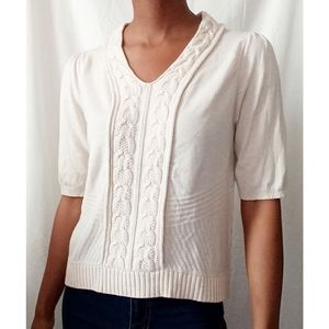 Moth cream cable knit top 789